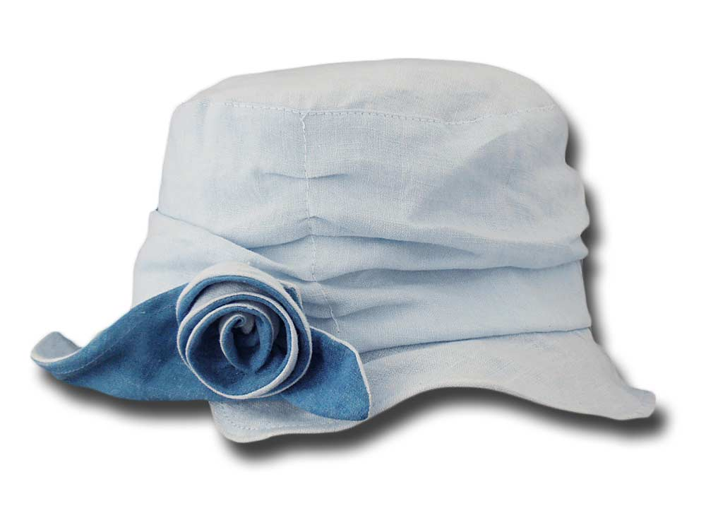 Hat woman summer pure linen pocket