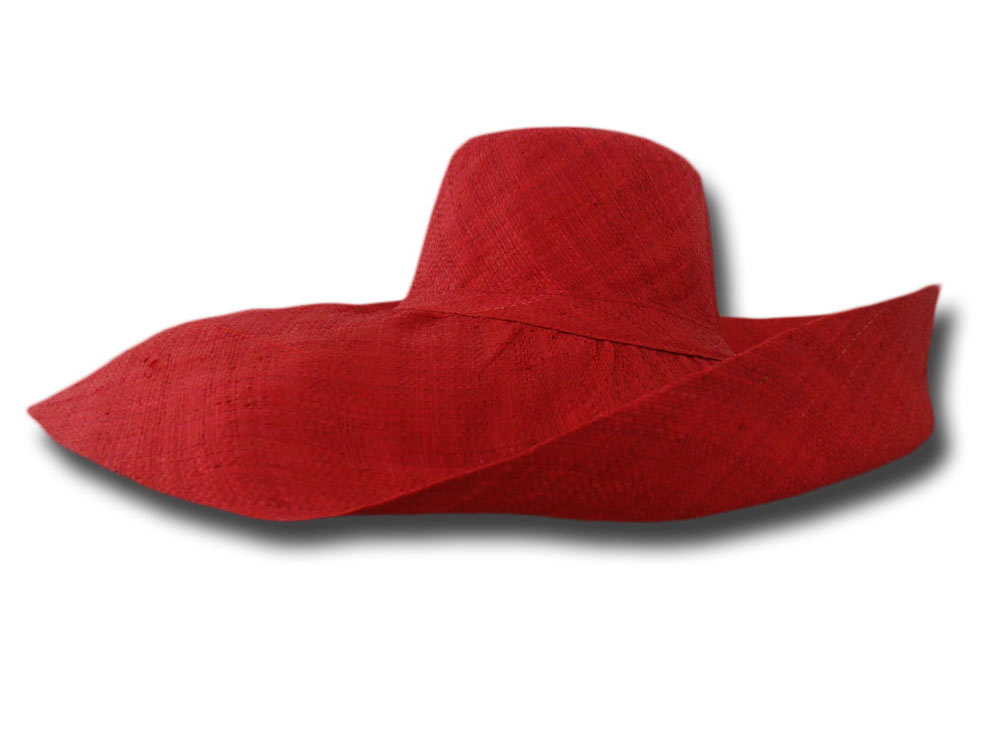 70 years fold straw hat brim large Saint-Trope