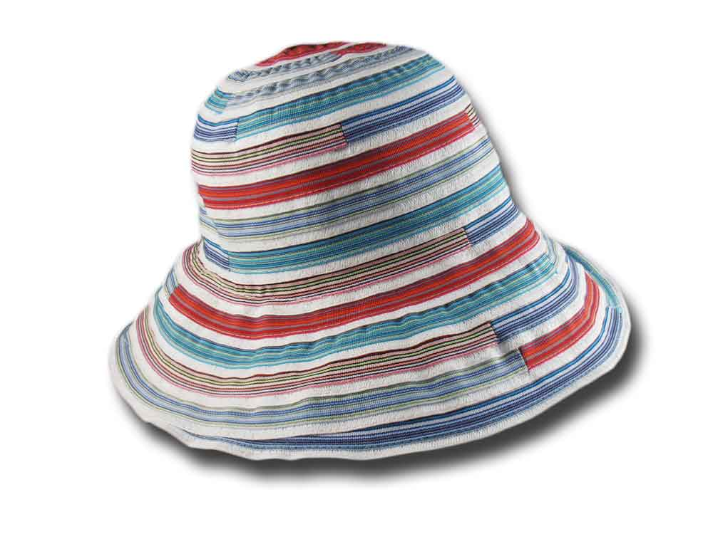 Cappello donna estivo Stripe multicolor Melega
