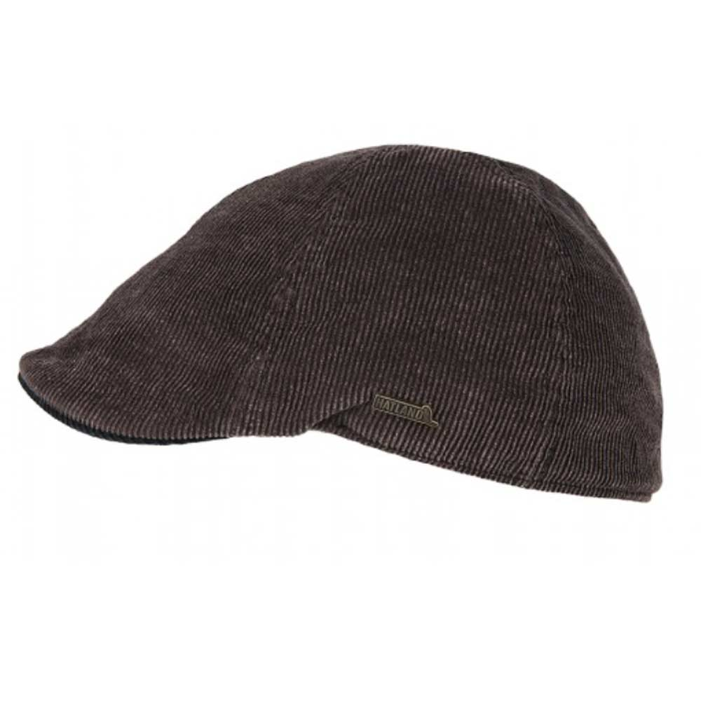 Hatland Seger frosted Corduroy flat cap Brown