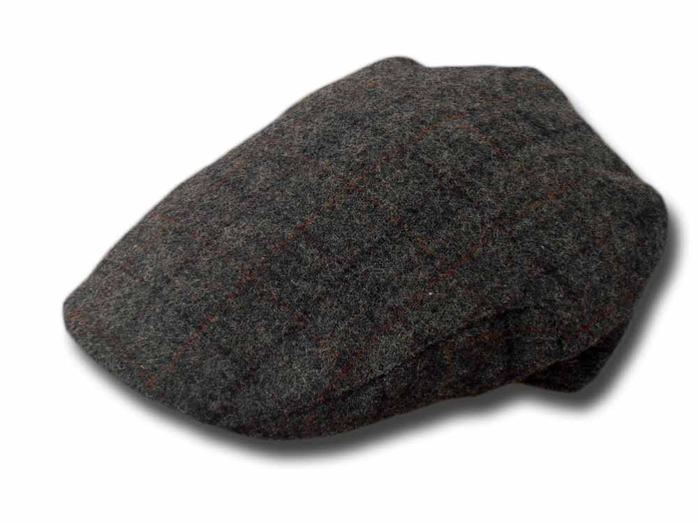 Shandon Irish  County Check wool flat cap Grey