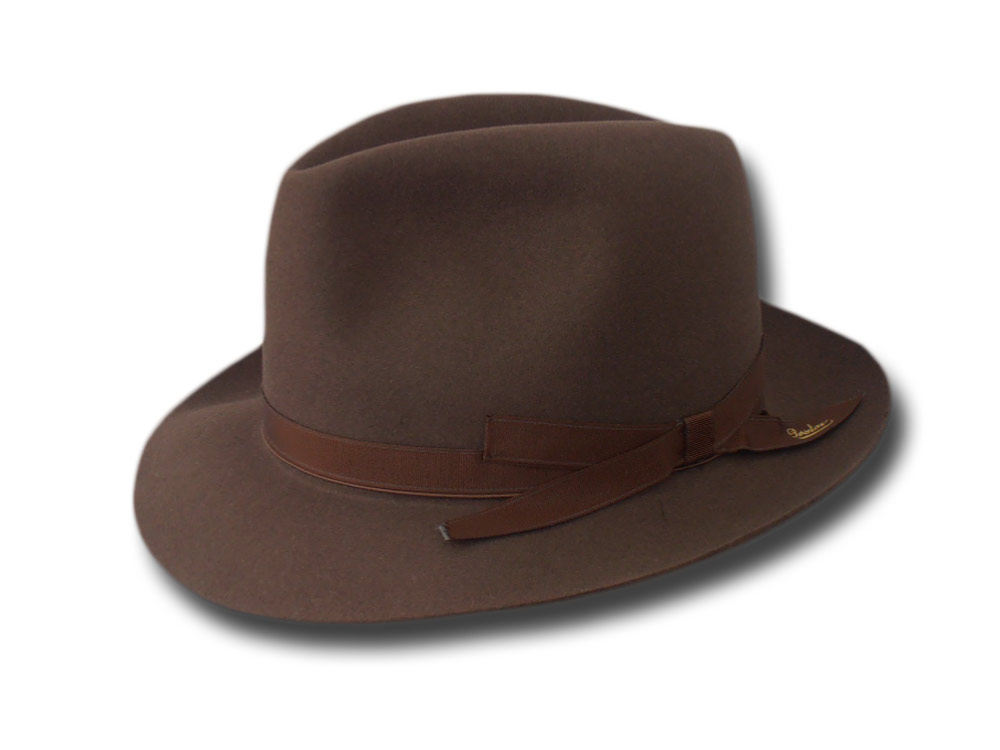 Borsalino Fedora Icaro hat Light brown
