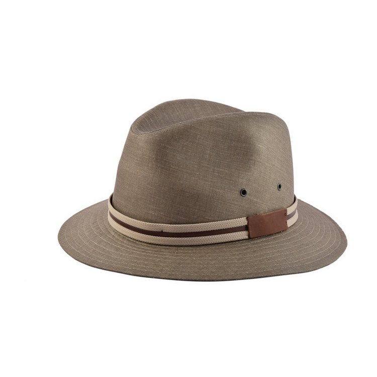 Cappello fedora casual in puro lino 2