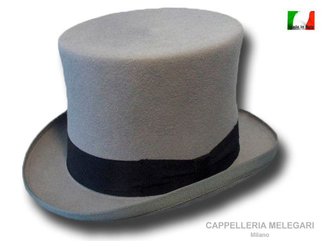 High Wool Merino Quality Top Hat Ribbon black
