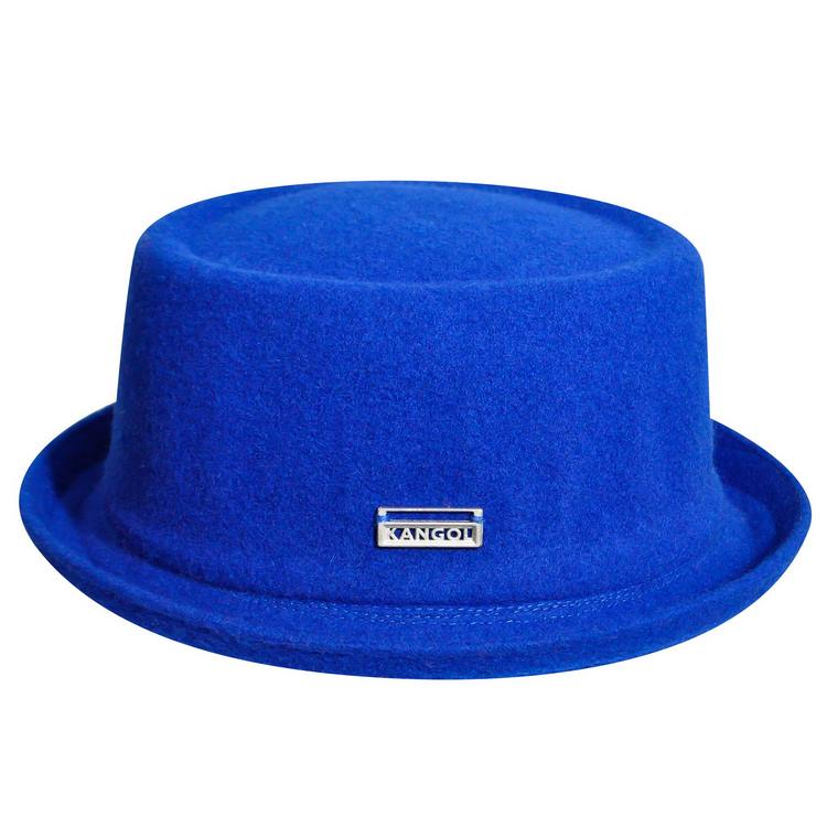 Kangol Porkpie Mowbray Wolle hut royal blau
