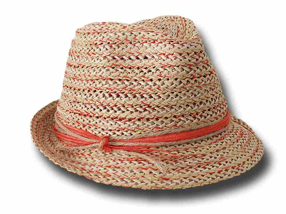 Trilby hat summer woman Marzi Cristina red rib