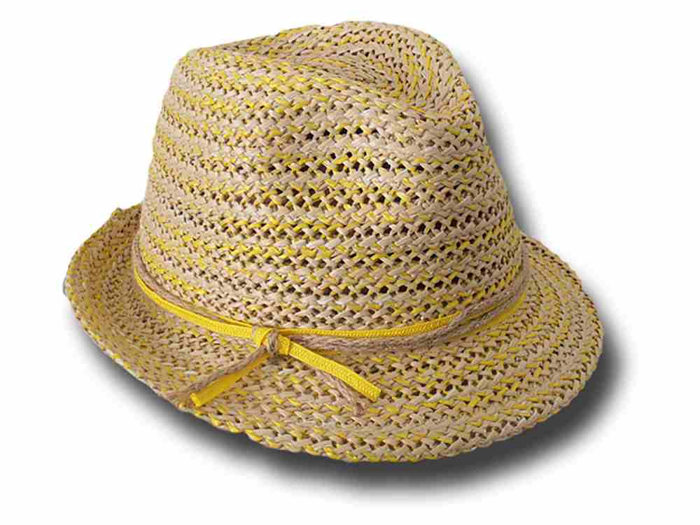 Trilby hat summer woman Marzi Cristina yellow