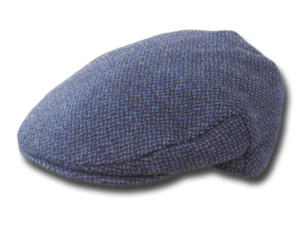 Shandon Irish wool flat cap Herman Blue