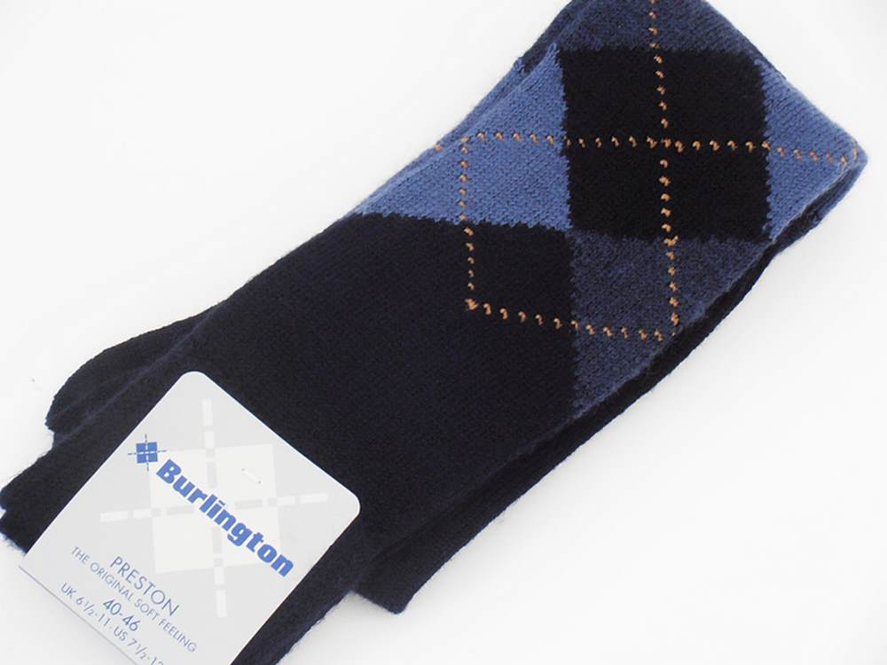 Burlington Socken mann Preston Blau