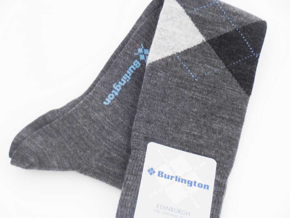 Wool socks man Edinburgh Burlington Grey