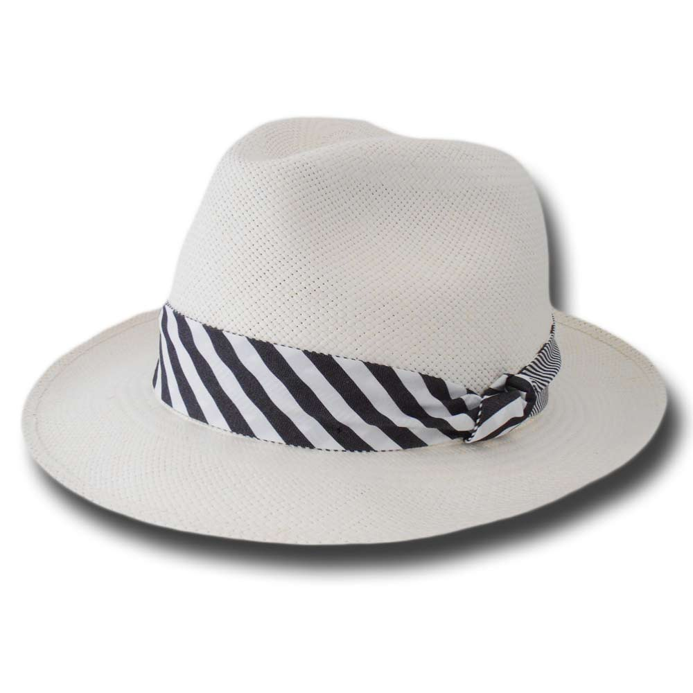 Borsalino 141121 Fedora Panama hat Striped 6 c