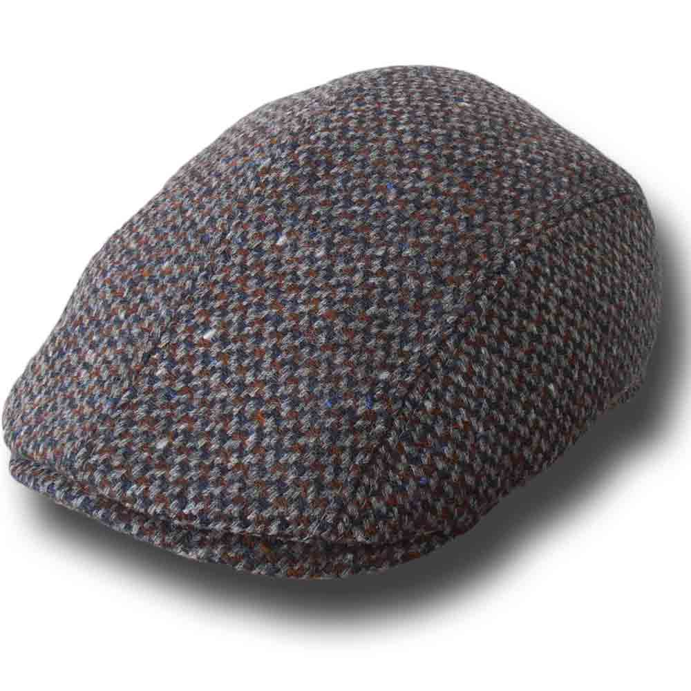 Melegari Berretto Duck lana tweed Tokio Grigio