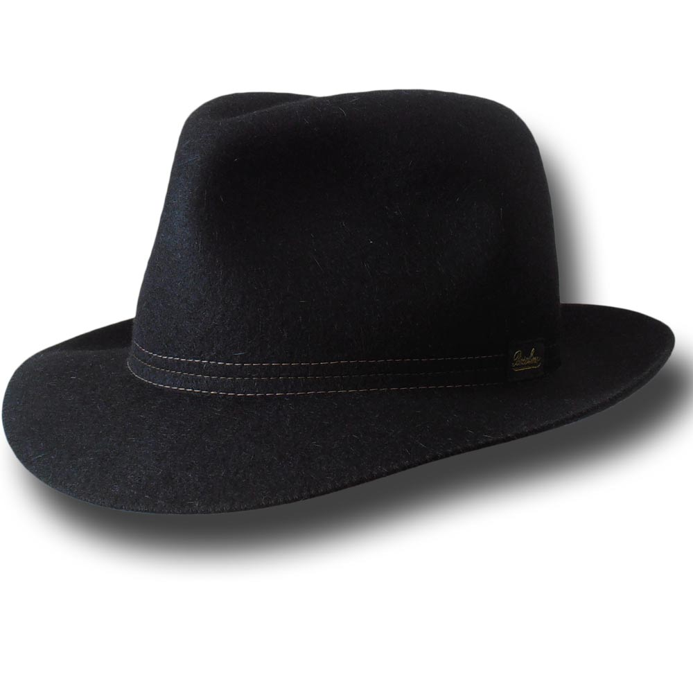 Borsalino Cappello Traveller arrotolabile Nero
