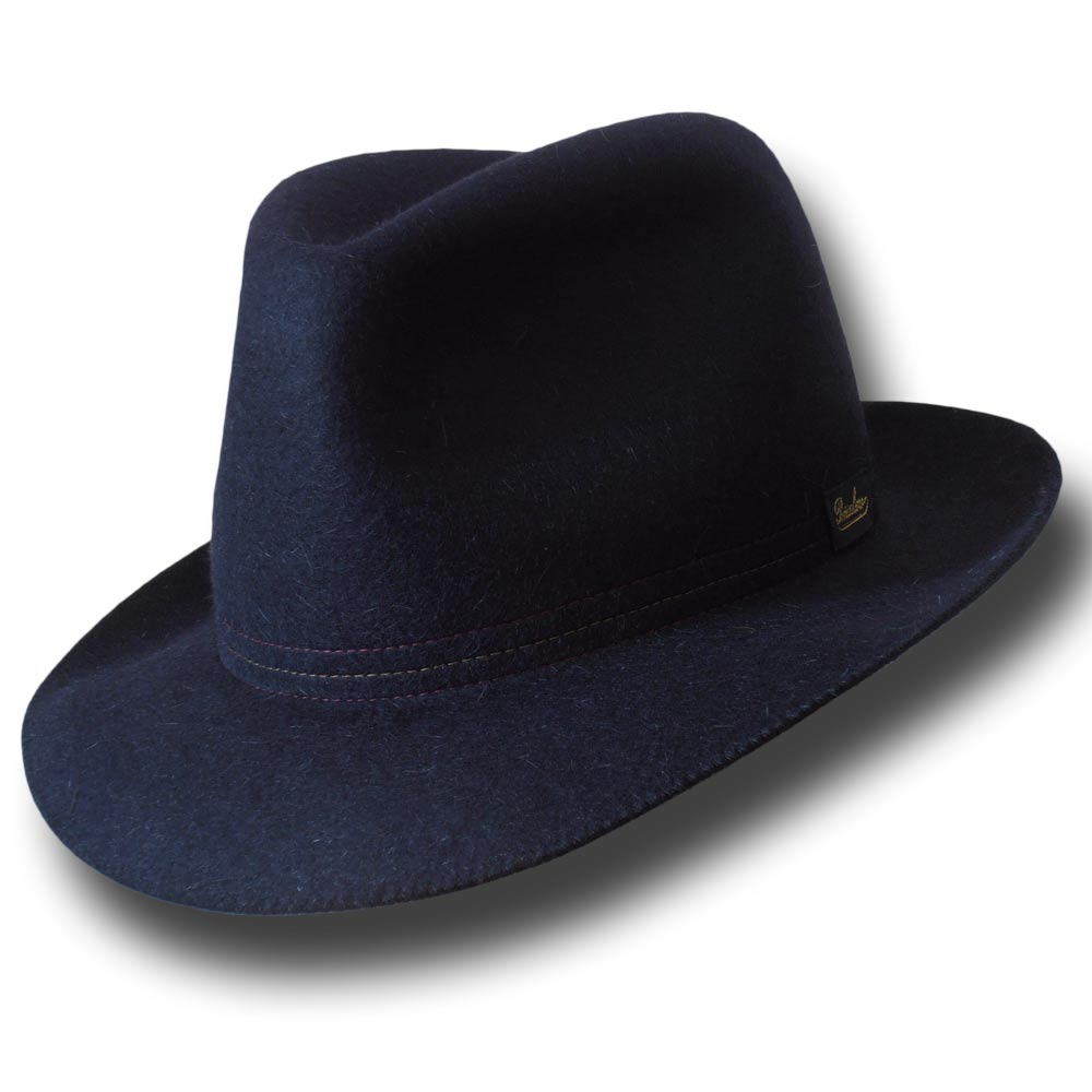 Cappello Borsalino Traveller arrotolabile Blu