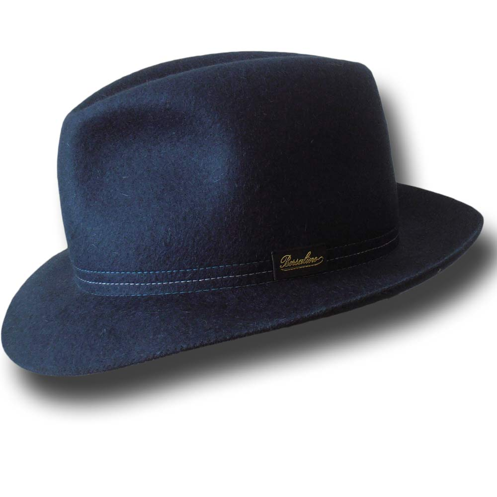 Borsalino Cappello Traveller arrotolabile Blu
