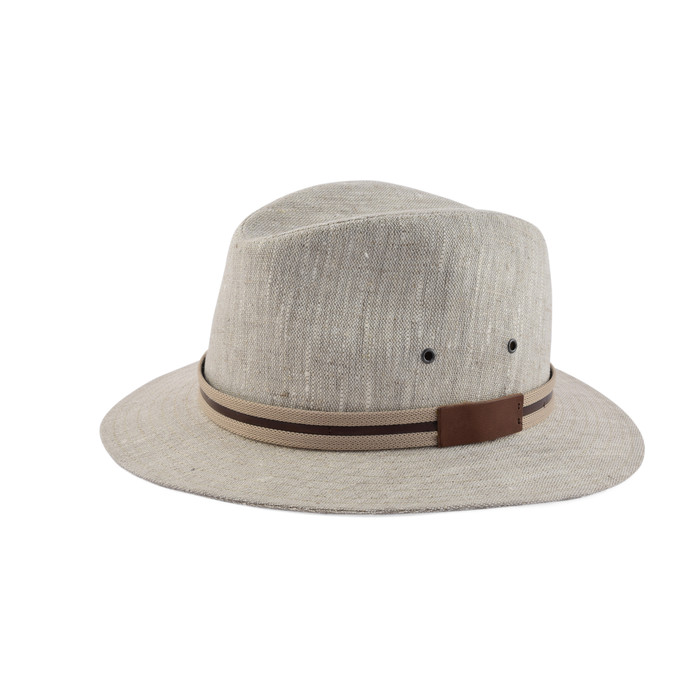 Cappello fedora casual in puro lino 1