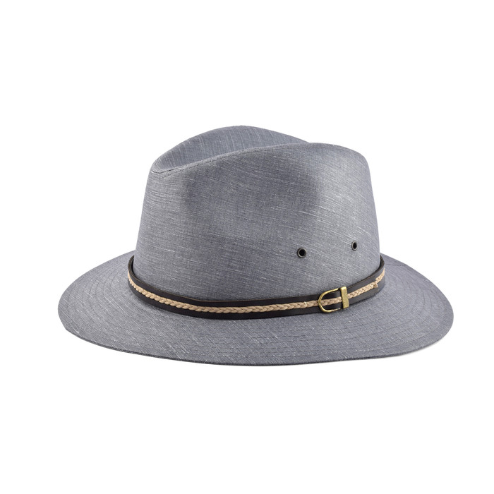 Cappello fedora casual in puro lino 3