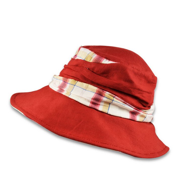 Melegari pocket linen woman summer cap Scottis