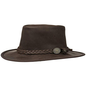 Scippis Cappello Australiano in pelle Saddler