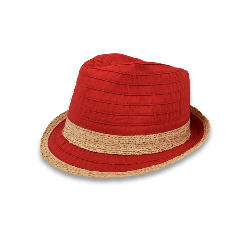 Trilby hat summer woman Leonie red