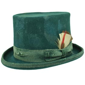 Cappello a cilindro Funky Aged Verde