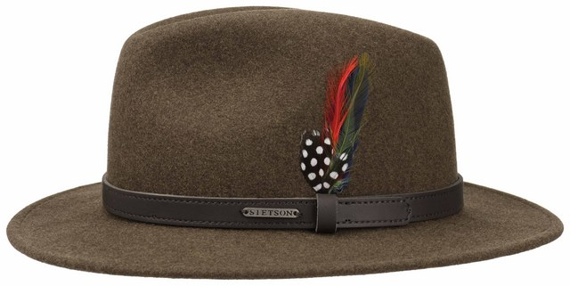 Stetson Cappello Traveller Flexible Woolfelt M