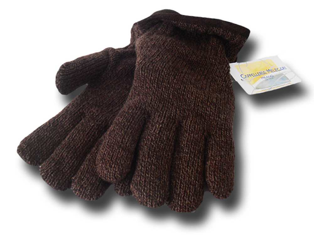 Melegari Falkland wool gloves Brown