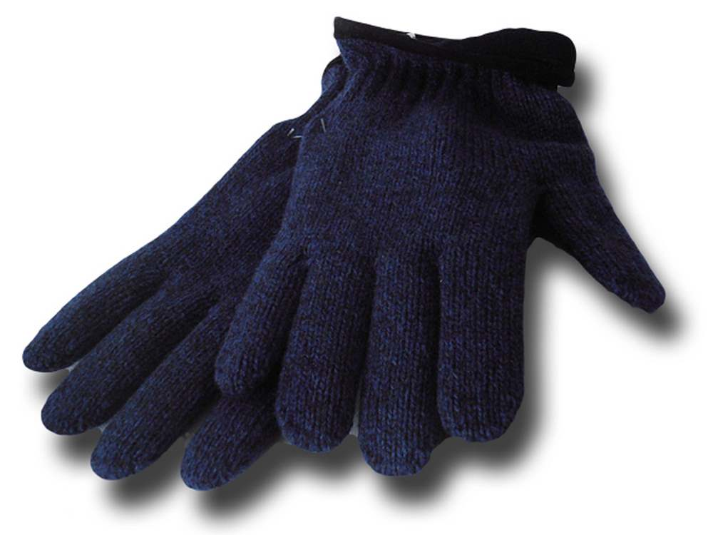 Falkland wool gloves Blue