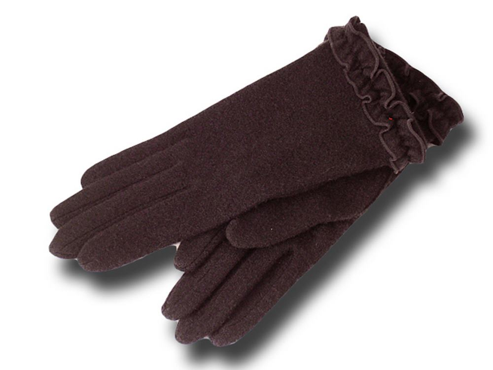 Wool gloves woman Rouge Vincent Pradier Brown