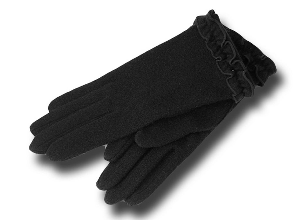 Wool gloves woman Rouge Vincent Pradier Black