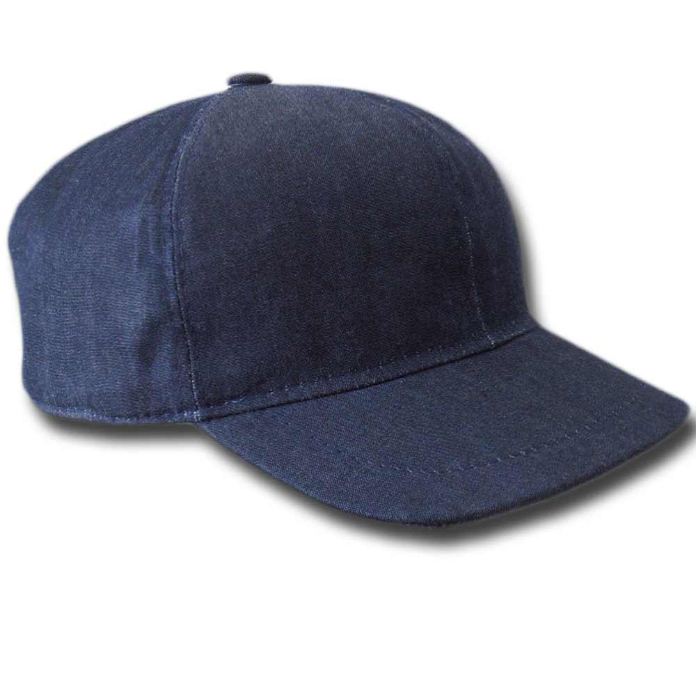 Berretto baseball cotone jeans Blu e1172d312b6b