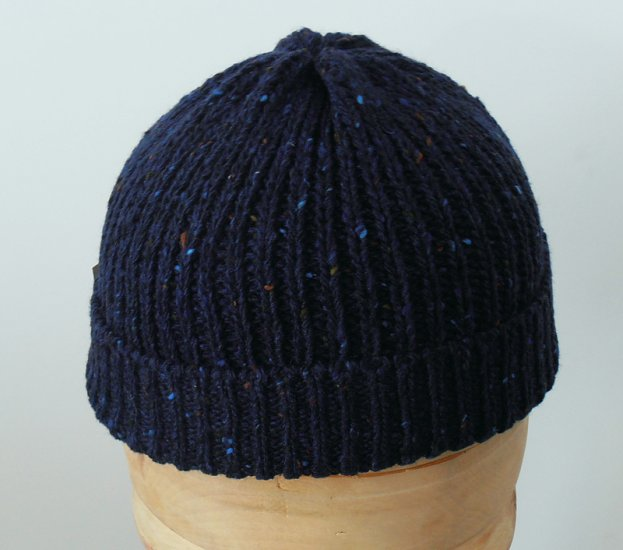 Beanie natural Irish Donegal yarn hat 05