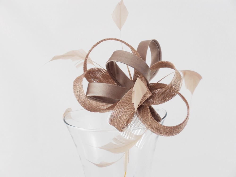 Hawkins Wedding Fascinator small comb ceremony