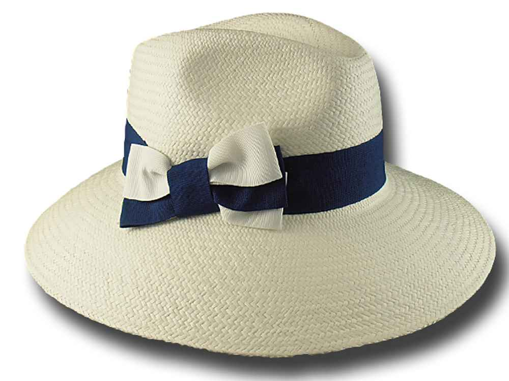 Summer Woman Panama hat  with large brim 9 cm