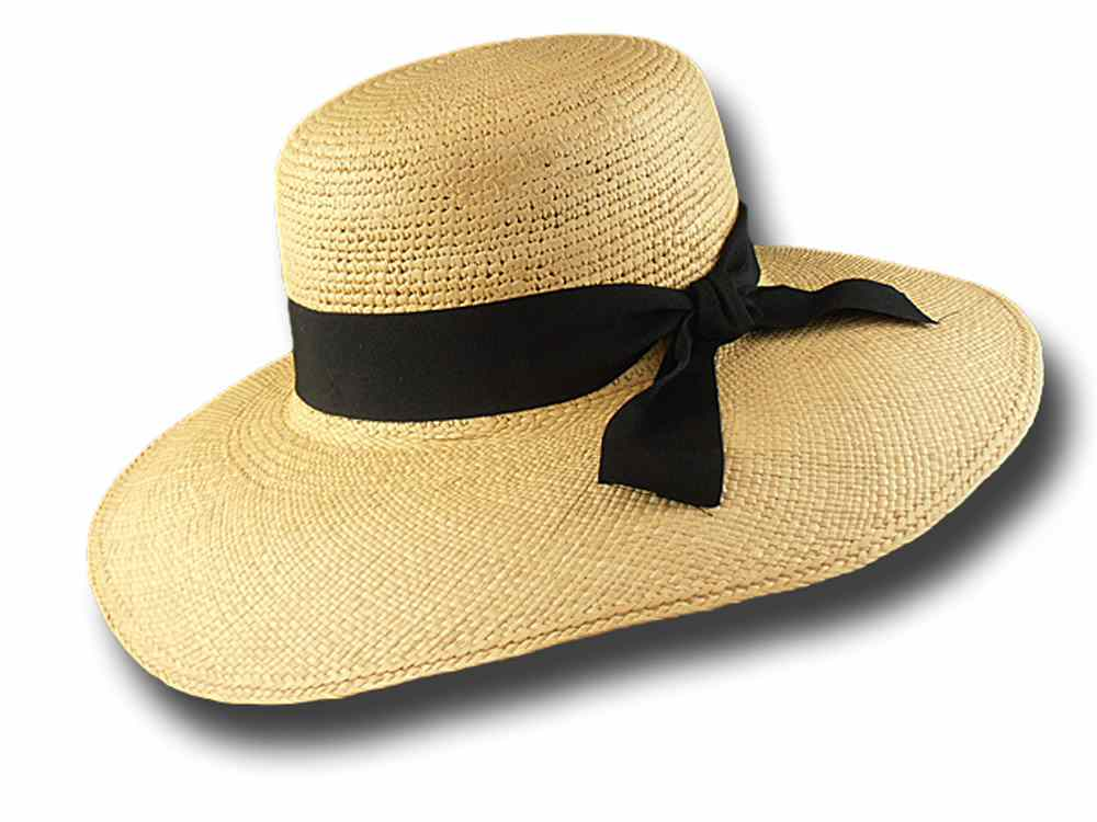Summer Woman Panama hat Don Bettin with large 6aa5d232f281