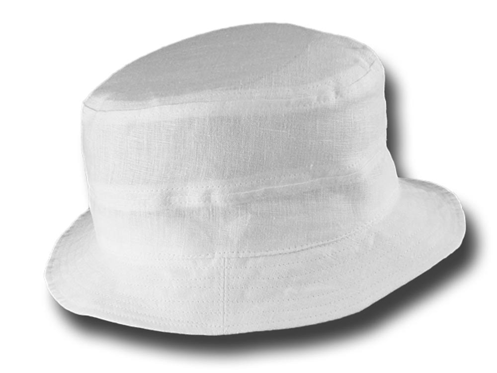 Fisherman pure linen rapper summer hat