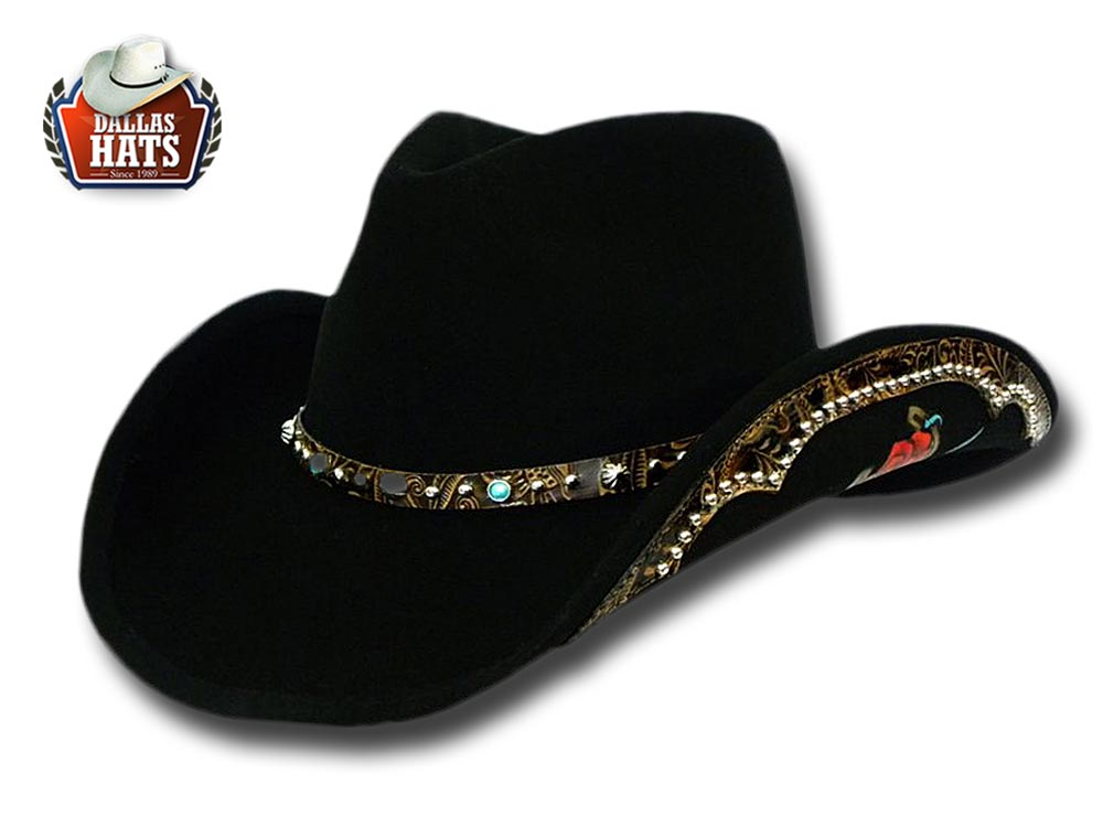 Dallas Hats Western hat wool felt Rose