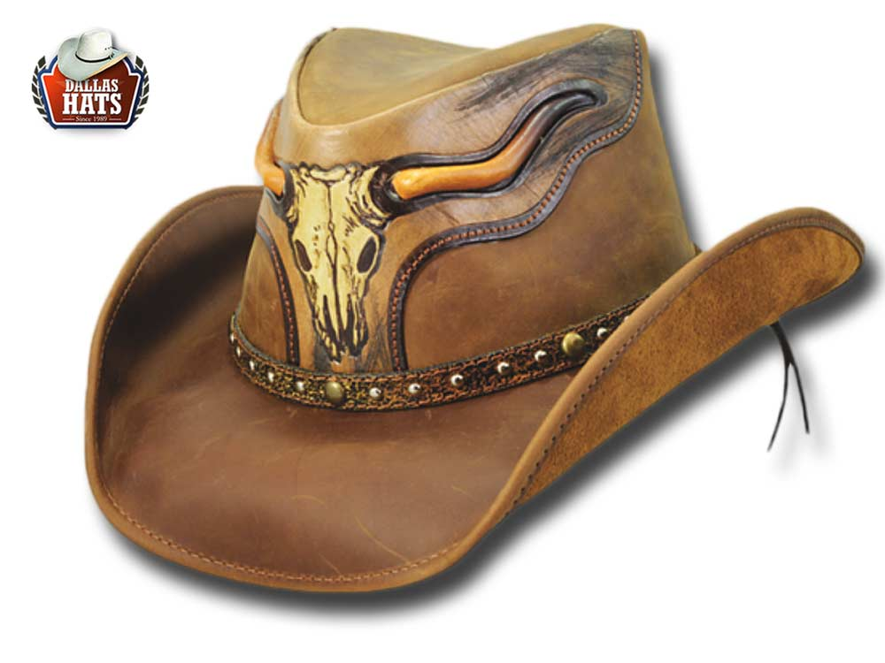 Dallas Hats Cappello Western pelle The Stear