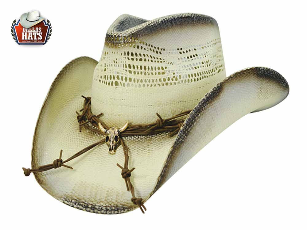 Dallas Hats Western Strohhut Ghost Rider