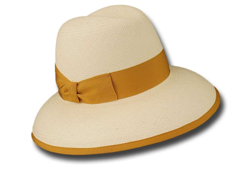 Borsalino Cappello Panama donna Janine giallo d94cc44740ec
