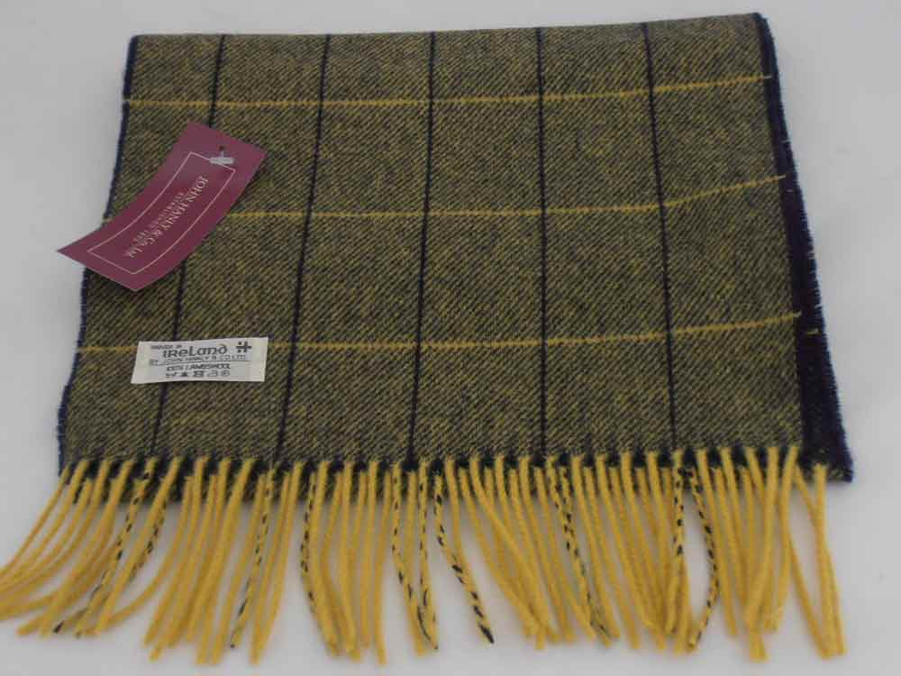 John Hanly Lambswool Irish Stripes scarf