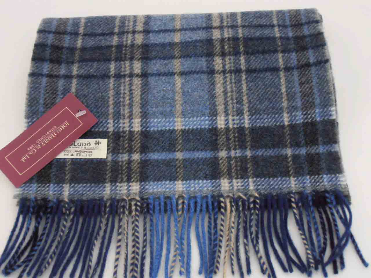 John Hanly Irish Lambswool Schal Tartan 4