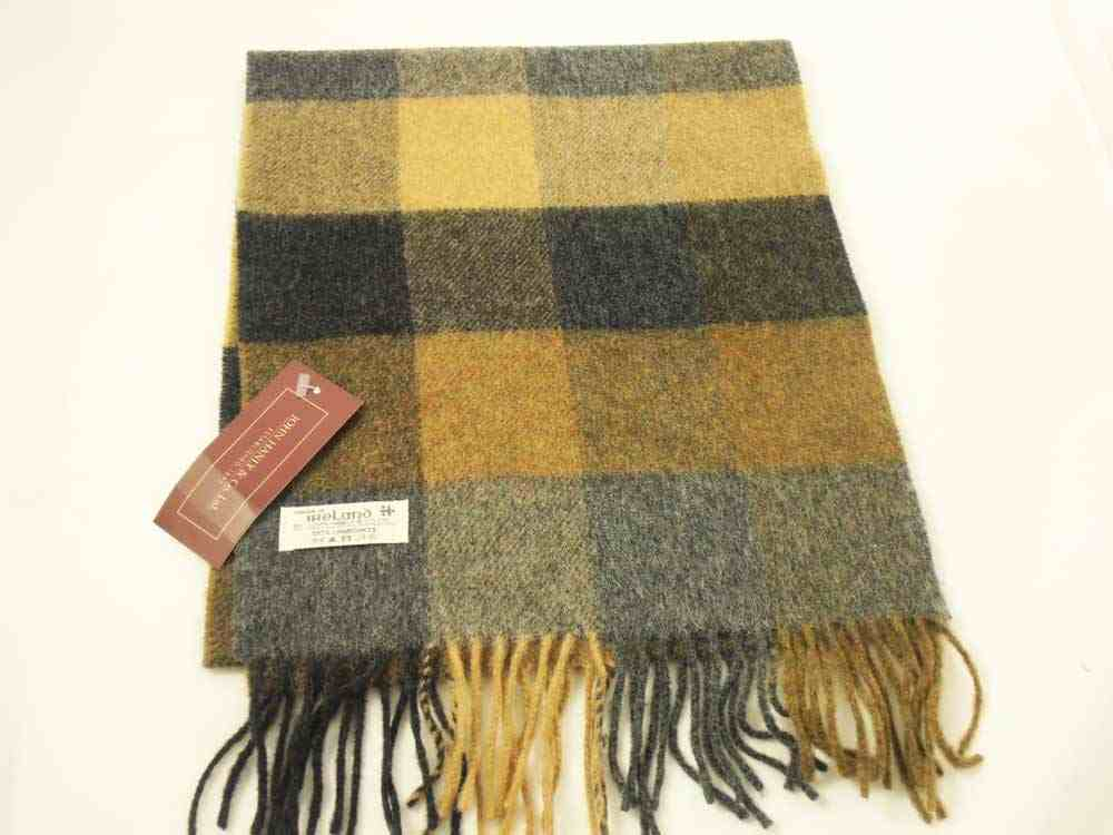 John Hanly Irish Lambswool Karierter Schal