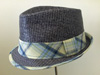 Broner trilby straw and cotton Pontiac hat