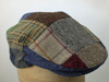 Flat Irish patchwork tweed cap John Hanly