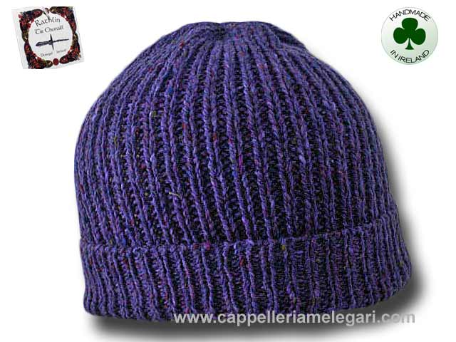 Beanie natural Irish Donegal yarn hat 09