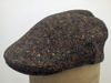 Flat cap Curragh Irish tweed brown