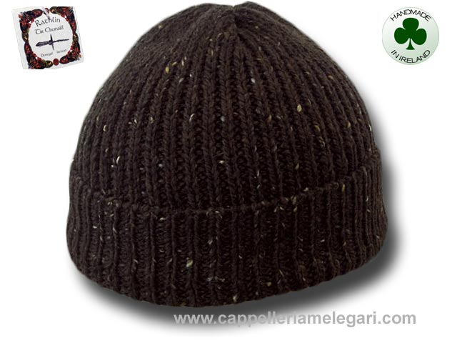 Beanie natural Irish Donegal yarn hat 02