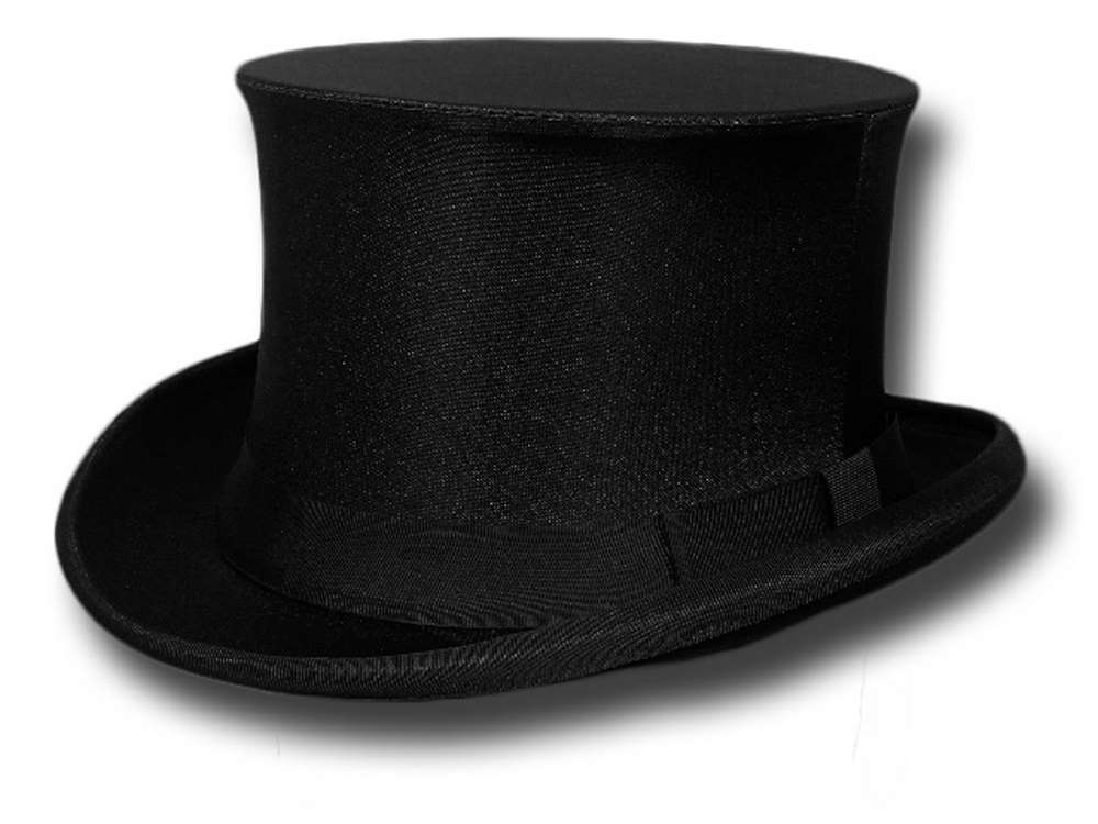 Gibus fold silk top Hat Black