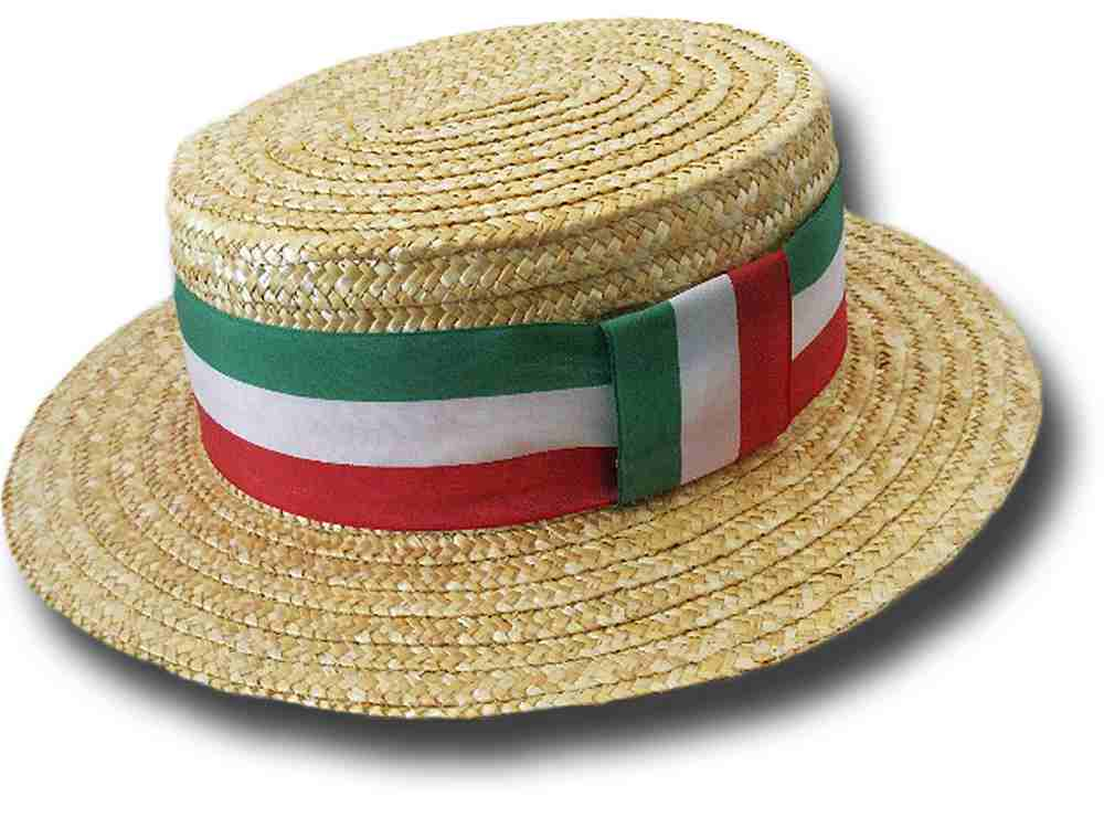 Boater Hat basic made in Italy and Tricolor ri